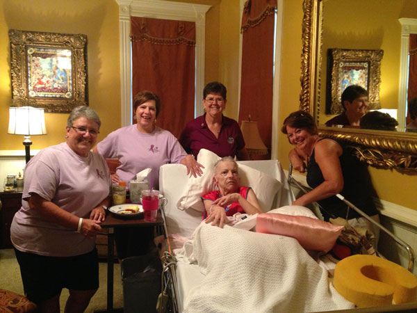 Providing favorite meals for patients
