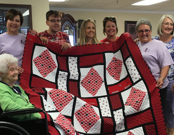 New Iberia Piece Makers Quilters – These Angels donation a quilt each year for the Jeep and 4x4 Poker Run raffle.  It takes an entire year to make the quilt.